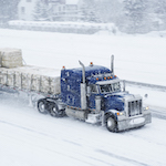 truck on snowy highway