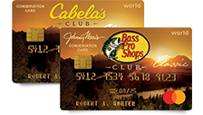 Bass Pro Shops and Cabela's Club Credit Cards