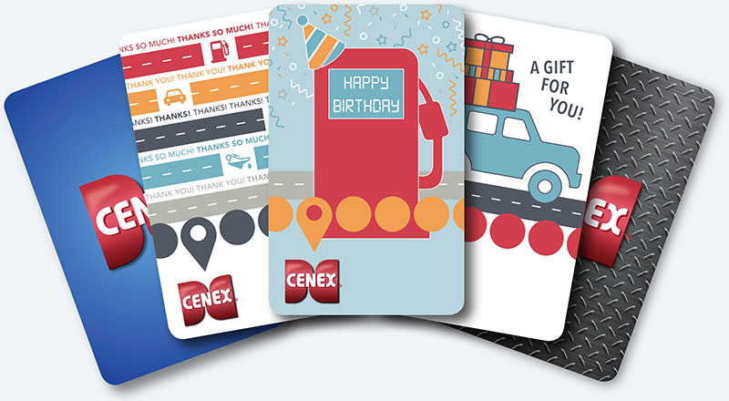 Cenex gift card collection