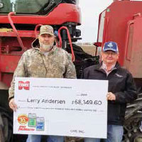 Larry Andersen received a check for Cenex Total Protection Plan coverage