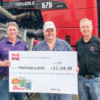 Marlowe Lamb received a check for Cenex Total Protection Plan coverage